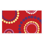 red ripple copy pack of standard business cards