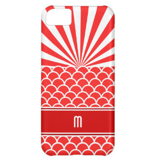 Red Rising Sun Japanese inspired pattern iPhone 5C Case