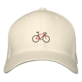 Red Road Bike Embroidered Hat