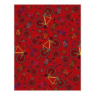 Red road bikes flyer design