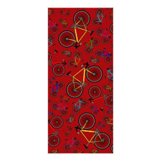 Red road bikes rack card template