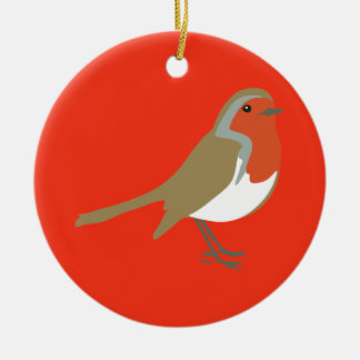 Red Robin Bird Christmas Ornament Decoration