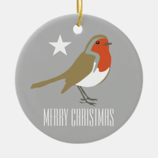 Red Robin Bird Merry Christmas Ornament Decoration