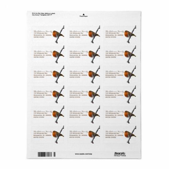 Red Robin Custom Address Labels