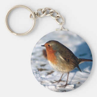 Red Robin in the Snow Keychain