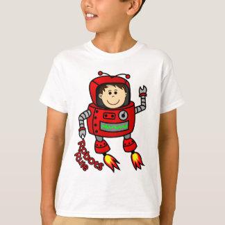red robot childs t-shirt