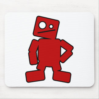 Red Robot Mouse Mat