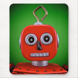 Red Robot Mousepad