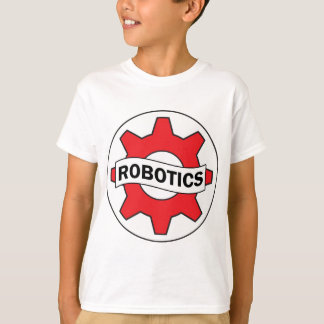Red Robotics Gear Icon T-Shirt