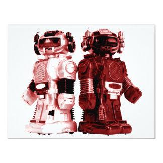 red robots invitation