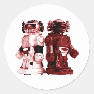 red robots sticker