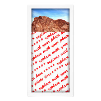 Red Rock At Hoover Dam Custom Photo Card