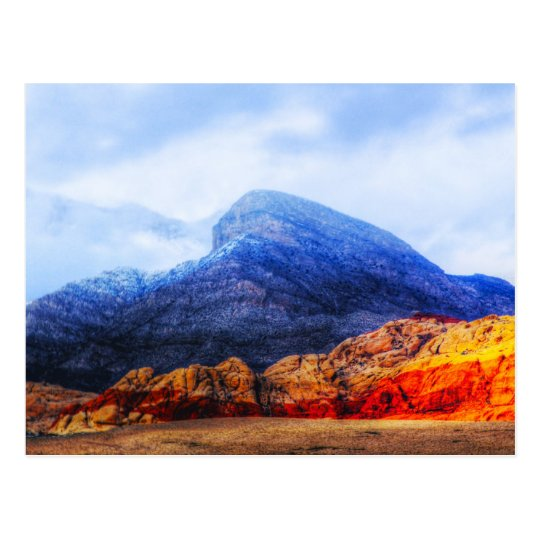 Red Rock Blue Mountain Postcard