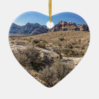 Red Rock Canyon & Dry Riverbed Christmas Ornament