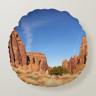Red Rock Canyon Round Cushion