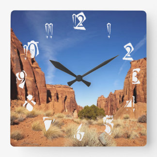 Red Rock Canyon Square Wall Clock