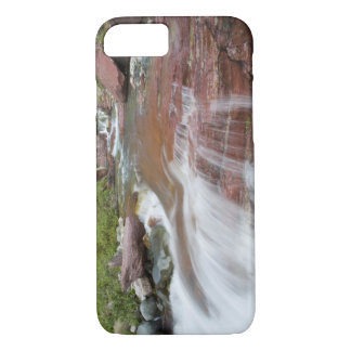 Red rock in Baring Creek in Glacier National iPhone 8/7 Case