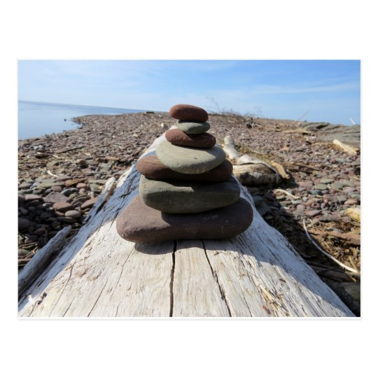 Red Rock Meditation Sculpture Postcard