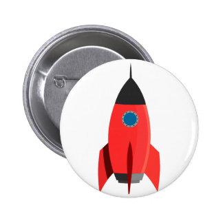 Red Rocket 6 Cm Round Badge