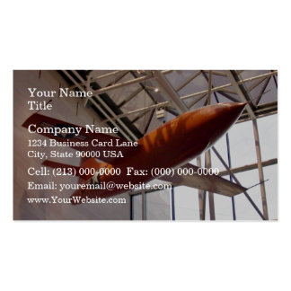 Red rocket airforce plane in show pack of standard business cards