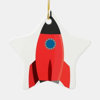 Red Rocket Ceramic Star Decoration