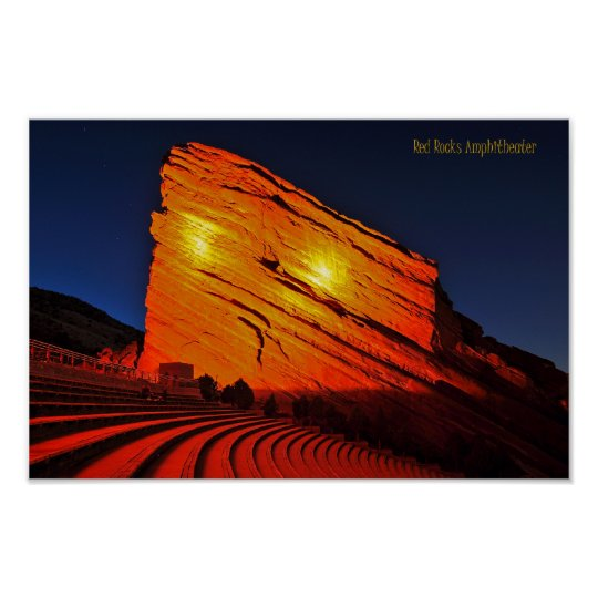 Red Rocks amphitheatre Poster