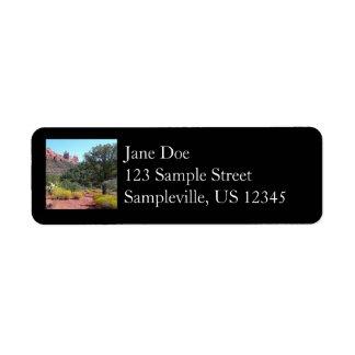 Red Rocks and Cacti II in Sedona Arizona Return Address Label
