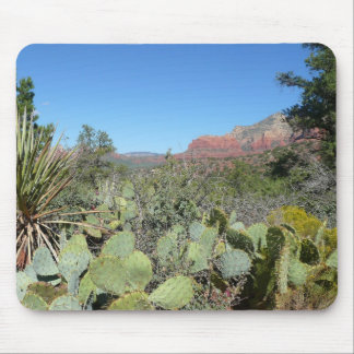 Red Rocks and Cacti Mousepad