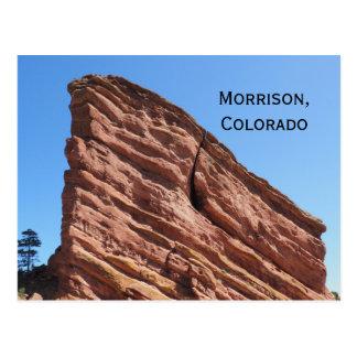 red rocks in Morrison, Colorado Postcard