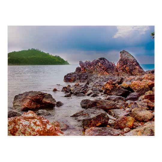 red rocks of fiji postcard