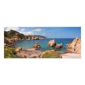 Red rocky coast of Sardinia Photo