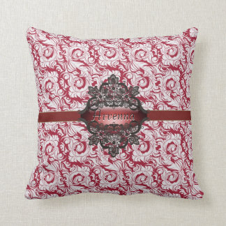 Red Rococo gothic American MoJo Pillow Cushion