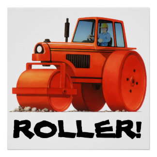 Red Roller Print