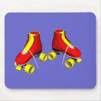 Red Roller Skates Mousepads