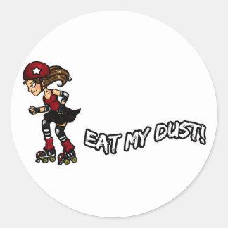 Red Rollerderby jammer Classic Round Sticker