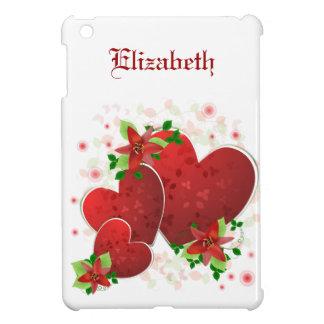 Red Romance Hearts iPad Mini Case