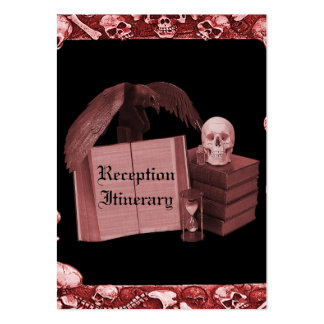 Red Romance Skull Spellbook Wedding Large Business Cards (Pack Of 100)