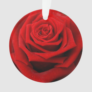 Red romantic valentine rose ornament