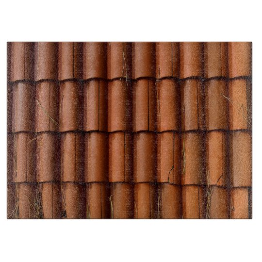 Red Roof Tiles Cutting Board