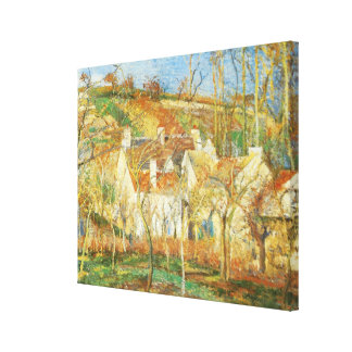 Red Roofs, Corner of a Village, Winter by Pissarro Stretched Canvas Print