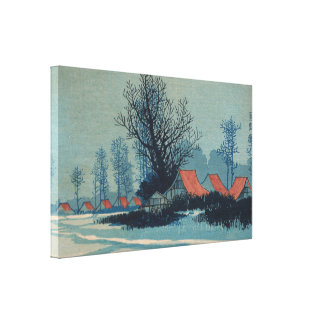 Red Roofs - Uehara Konen Stretched Canvas Print