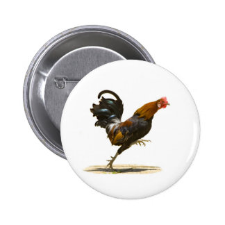 Red Rooster 6 Cm Round Badge