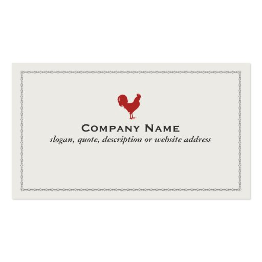 Red Rooster Business Card
