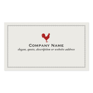 Red Rooster Country Farm Business Card