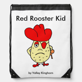 Red Rooster Kid drawstring backpack