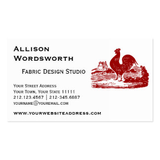 Red Rooster Old Farmhouse Vintage Business Cards
