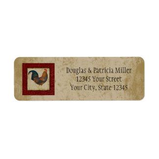 Red Rooster Return Address Label
