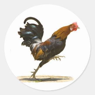 Red Rooster Round Sticker