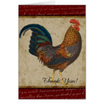 Red Rooster Thank You Note Card