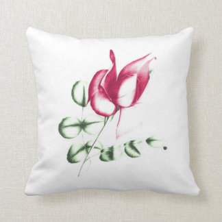 Red Ros on Polyester Cushion 41 cm x 41 cm